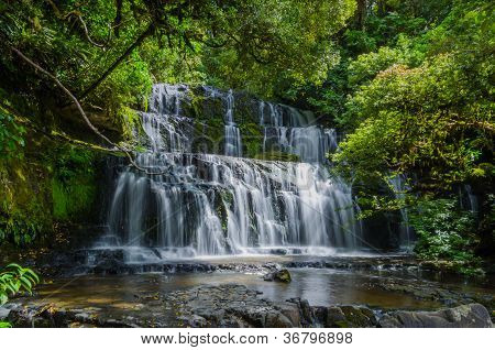 Purakaunui Falls, The Catlins, South Island Of New Zealand