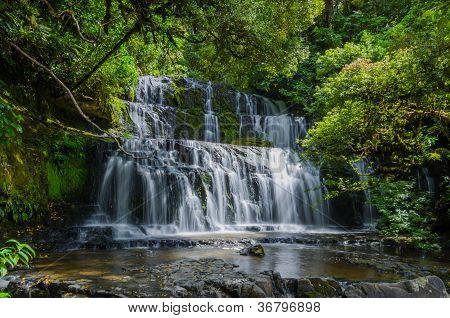 Purakaunui Falls, The Catlins, South Island Of New Zealand