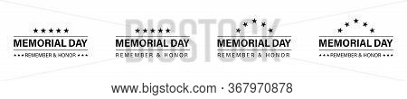 Memorial Day Banner Design. Vector Isolated Design Elements. Memorial Day Poster Concept Design. Rem
