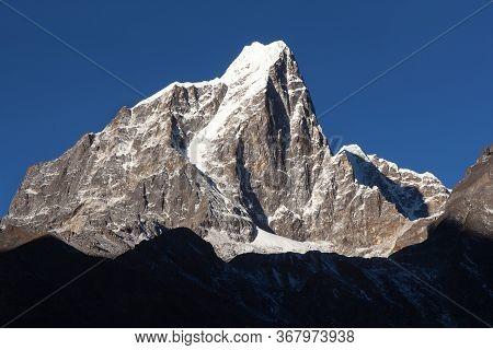 Taboche Peak And Cholatse Peak - Beautiful Himalayan Mountains Around The Way To Everest Base Camp,