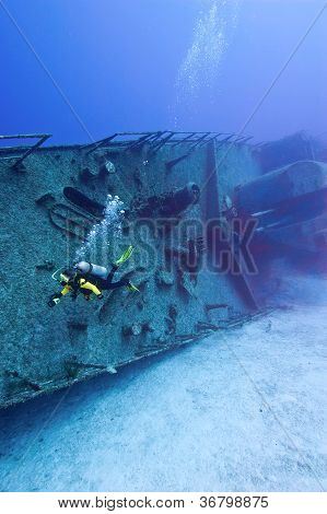 Diving On A Warship