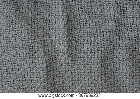 Gray Fabric Background  From A Crumpled Piece Of Cloth