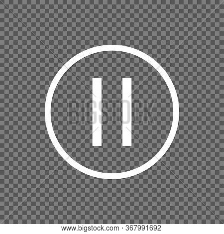 Pause Button Vector Icon Isolated On Transparent Background