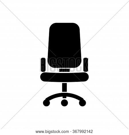 Office Chair Icon Isolated On White Background. Vector Illustration