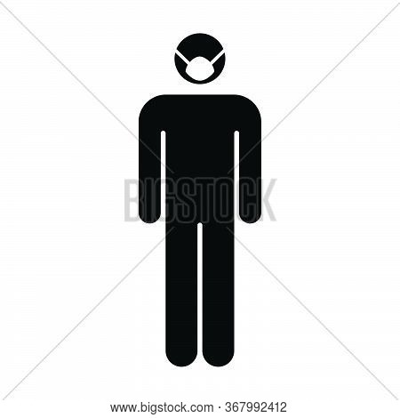 Face Mask Icon Vector For Virus And Flu With Person Profile Male Avatar Symbol For Medical And Healt