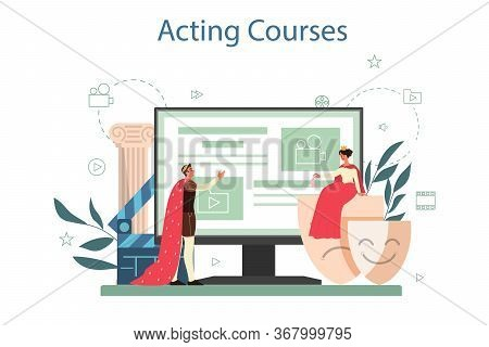 Actor And Actress Online Service Or Platform. Idea Of Creative People