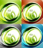 Nature abstract wave eco background poster