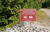 Refuge Crabbing Regulations Sign Ding Darling Wildlife Refuge Sanibel Florida poster