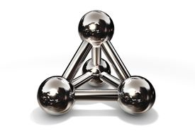 Molecule Structure Chrome/Silver/Steel