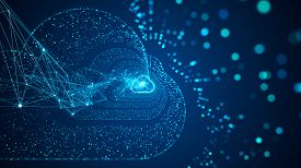 Cloud Computing And Big Data Concept.