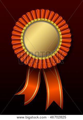 Red award over black