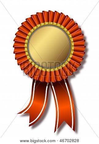 Red award over white
