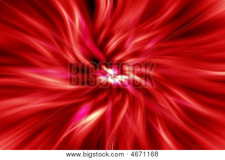 Red Swirl Vortex Abstract