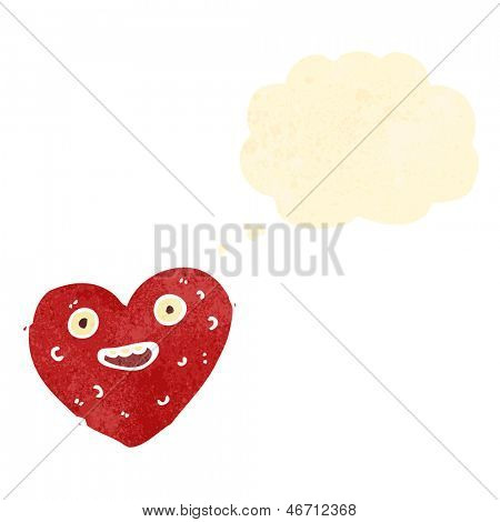 ugly heart retro cartoon