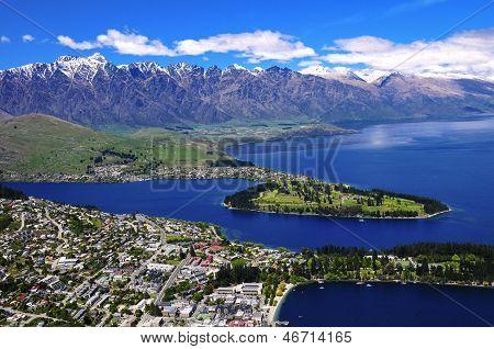 Queens Town And Lake Wakatipu.