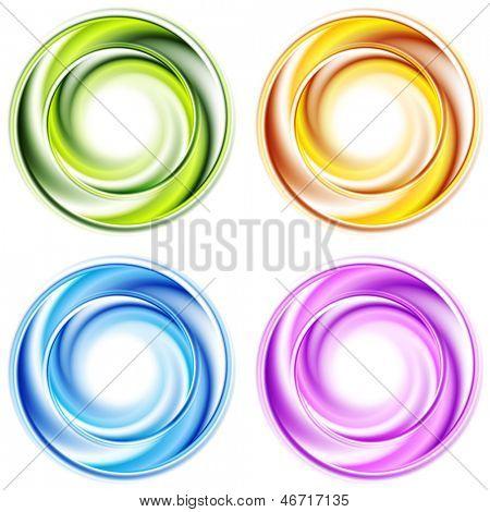 Abstract shiny circles. Vector background esp 10
