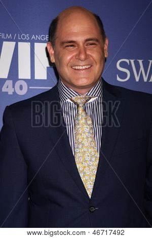 LOS ANGELES - JUN 12:  Matthew Weiner arrives at the Crystal and Lucy Awards 2013 at the Beverly Hilton Hotel on June 12, 2013 in Beverly Hills, CA