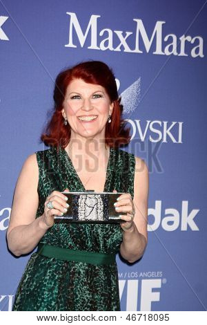 LOS ANGELES - JUN 12:  Kate Flannery arrives at the Crystal and Lucy Awards 2013 at the Beverly Hilton Hotel on June 12, 2013 in Beverly Hills, CA