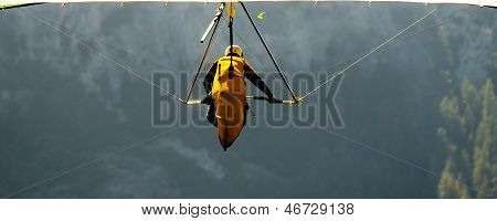 Hang Glider In Yosemite