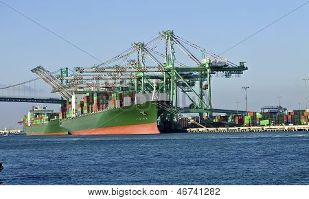 Port Of Long Beach California Industrial Facility.