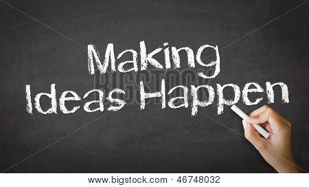 Fazendo idéias acontecem giz ilustração