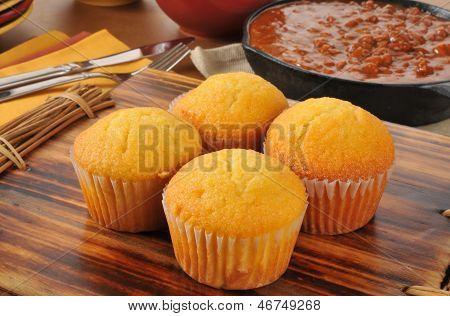 Cornbread Muffins And Chili
