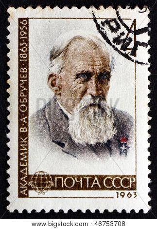 Postage Stamp Russia 1963 Vladimir Afanasyevich Obrutchev, Geologist