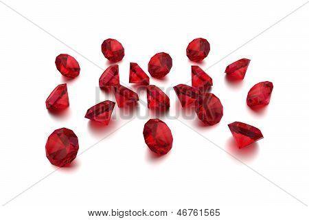3D Ruby - 18 Red Gems