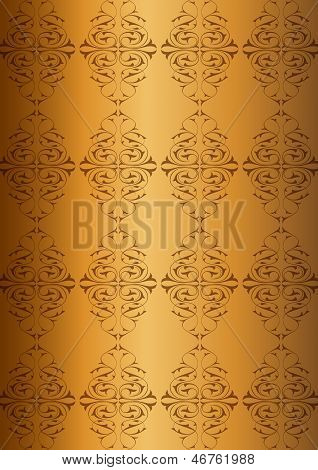 Ottoman Pattern and golden background