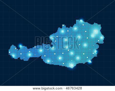 pixel Austria map