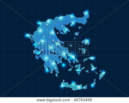 pixel Greece map
