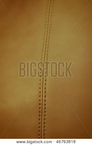 Close up shot on beige leather