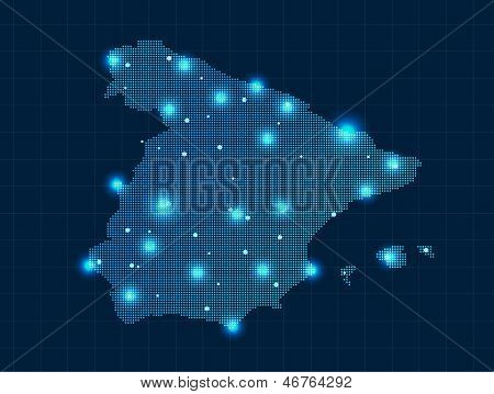 pixel Spain map