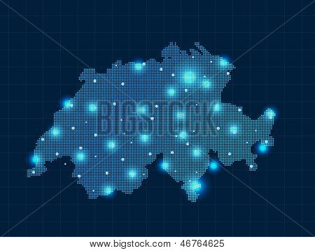pixel Switzerland map
