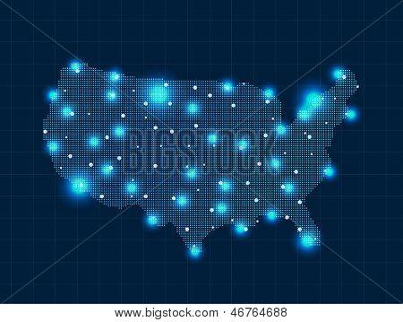 pixel USA map