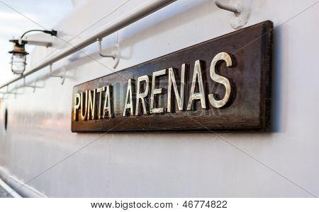 Ship Registered In Punta Arenas