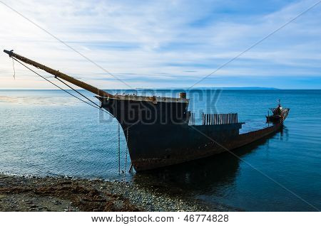 Shipwreck South Of Punta Arenas Chile