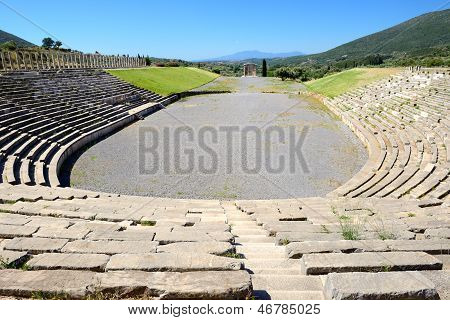 The Stadium With Mausoleum In Ancient Messene (messinia), Peloponnes, Greece