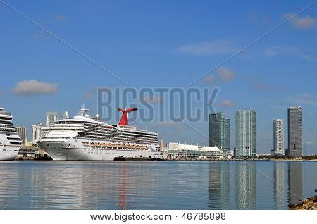 Cruise Ship at the Port of Miami