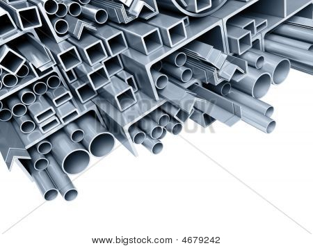 Background Metallic Pipes