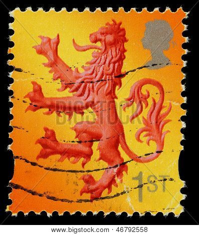Scotland Lion Postage Stamp
