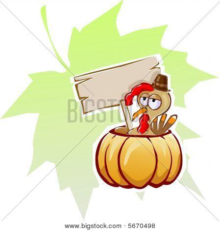 cartoon turkey fowl