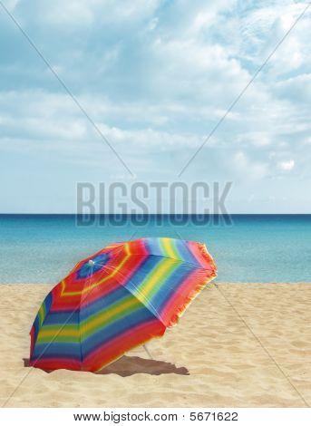 Beach Colorful Umbrella