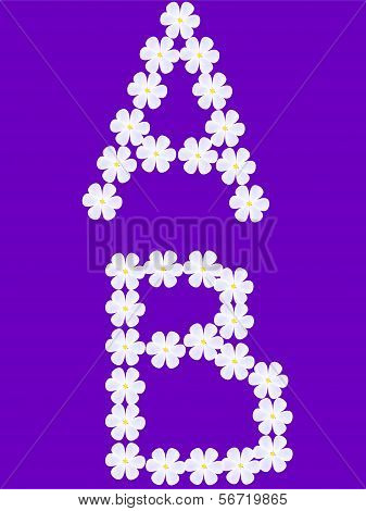 flowers letter a,b