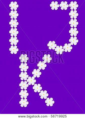flowers letter i,j,k