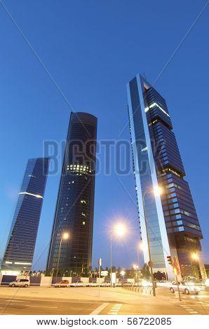 skyscrapers in Madrid