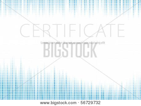 Certificate - Blue Halftone Background