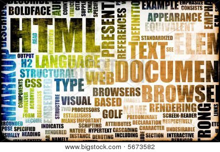 HTML Script Code as an Education Background poster