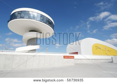 AVILES, SPAIN - AUGUST 10: Niemeyer Center on August 10, 2011 in Aviles.  Designed by Oscar Niemeyer, offers a  multidisciplinary program dedicated to the most diverse art and cultural events.