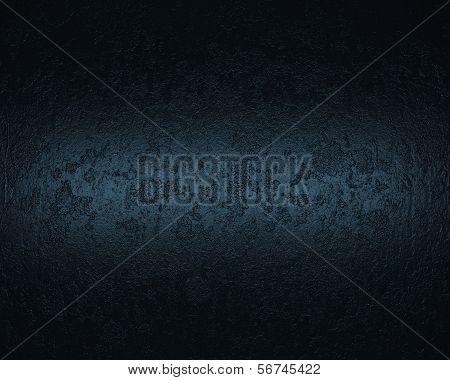 blue background and black vignette border frame